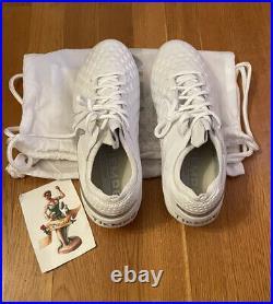 Nike Tiempo Legend 8 Elite FG Soccer Cleats White Silver AT5293-100 Size 9 Men's