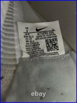 Nike Tiempo Legend 8 Elite FG Soccer Cleats White Silver AT5293-100 Sz 9
