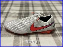 Nike Tiempo Legend 8 Elite FG White/Photon Dust/Flash Crimson AT5293-163 Size 11