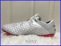 Nike Tiempo Legend 8 Elite FG White/Photon Dust/Flash Crimson AT5293-163 Size 12