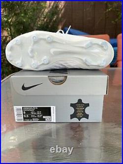 Nike Tiempo Legend 8 Elite FG White Soccer Cleats Mens Sz 8/ Wmns 9.5 AT5293-100