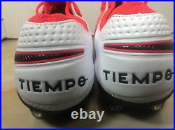Nike Tiempo Legend 8 Elite FG soccer cleats men sz 10.5 red AT5293 606