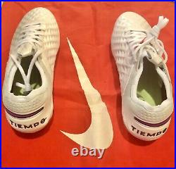 Nike Tiempo Legend 8 Elite FGWhite/Photon Dust/Flash Crimson AT5293-163 Size10.5
