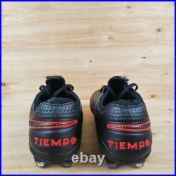 Nike Tiempo Legend 8 Elite Fg Acc Soccer Cleats Black Black/red Men's Sz