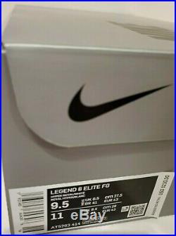 Nike Tiempo Legend 8 Elite Fg Mens SZ 9.5 Hyper Royal Blue White AT5293-414 $230