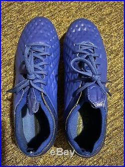 Nike Tiempo Legend 8 Elite Fg Soccer Cleats Mens Blue/White AT5293-414 Size 9