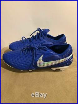 Nike Tiempo Legend 8 Elite Fg Soccer Cleats Mens Blue/White AT5293-414 sz 8.5