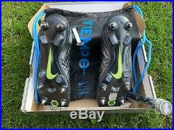 Nike Tiempo Legend 8 Elite SG-PRO AC, UK 9, Black/Black Blue Hero, Worn Once
