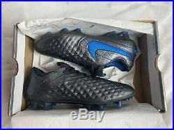 Nike Tiempo Legend 8 Elite Soccer Cleats Blue Black At5293-004 Men's Size 9