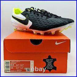 Nike Tiempo Legend 8 Pro FG Black/Volt Soccer Cleats (AT6133-007) Mens Size 9.5