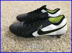 Nike Tiempo Legend 8 SG-Pro AC Soccer Cleats White/Black/Volt AT5900-007 Size 10