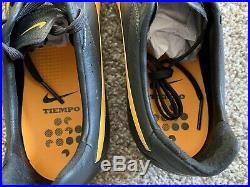 Nike Tiempo Legend ACC Black Orange US Size 9 Soccer Football Boots Cleats Leath