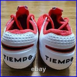 Nike Tiempo Legend Elite 8 FG ACC Soccer LASER CRIMSON AT5293-606 MENS SIZE 10