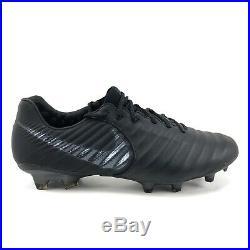 Nike Tiempo Legend Elite VII Elite FG ACC Flyknit Black Soccer Cleats Men Size 8