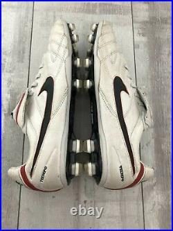 Nike Tiempo Legend III Elite FG Football Cleats White Leather Carbon US7.5 UK6.5