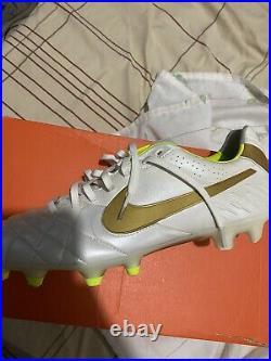 Nike Tiempo Legend IV 4 SG US11 UK10 45 Retro Kangaroo White Gold Soft Ground