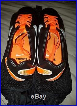 Nike Tiempo Legend IV Elite FG Soccer Size 9.5 Black Orange White(453955 018)