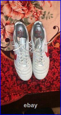 Nike Tiempo Legend IV Elite White Red Metallic Sz 10 New Mens
