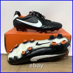 Nike Tiempo Legend IV FG 454316 018 Black Orange Mens Soccer Cleats Size 10