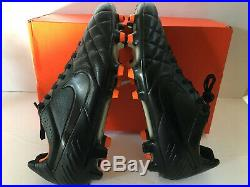 Nike Tiempo Legend IV FG Blackout Mens Soccer Football Cleats Fg Size 9.5