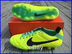 Nike Tiempo Legend IV FG Soccer Cleats Volt SZ 6 Volt Green Glow (454316-704)