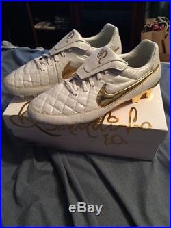 Nike Tiempo Legend Premium Touch of Gold Ronaldinho, size US 11