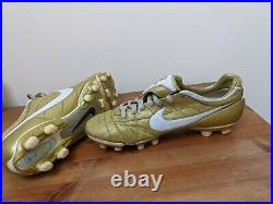 Nike Tiempo Legend Ronaldinho Air Zoom FG Football Boots Size 10 Gaucho Gold
