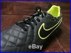 Nike Tiempo Legend V 5 FG ACC Soccer Cleats Anthracite Volt SZ 9 (631518-006)