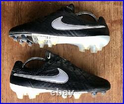 Nike Tiempo Legend V ACC FG Black/White Football Boots UK9.5 Rare Pro Elite 2013