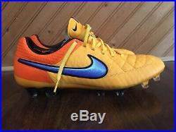 Nike Tiempo Legend V FG ACC Laser Orange Soccer Cleat Sz 11 NEW