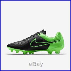Nike Tiempo Legend V FG Fußballschuhe schwarz grün Nocken 631518 003