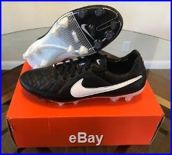 timeless design c81da 9f834 September 16, 2018 Nike Tiempo Legend V FG Men s Soccer Cleats ACC Leather  Black White Size 11