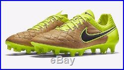 Nike Tiempo Legend V FG Tech Craft Soccer Cleats 631518-707 Canvas Volt Superfly