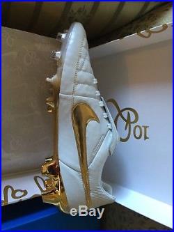 Nike Tiempo Legend V Premium FG Ronaldinho Gold R10 Limited Edition Us9