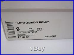 Nike Tiempo Legend V Premium FG Ronaldinho Limited Edition Gold R10 SZ 10