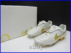 Nike Tiempo Legend V Premium FG Ronaldinho Limited Edition Gold R10 SZ 9