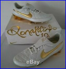 Nike Tiempo Legend V R10 Ronaldinho Touch Of Gold size 11.5 Limited Edition