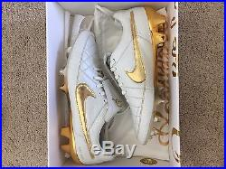Nike Tiempo Legend V Ronaldinho R10 Touch Of Gold Prem Fg 717137-100 R 10 Dios