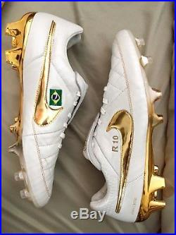 sports shoes a8ee9 188fc Nike Tiempo Legend V Touch Of Gold Ronaldinho Custom
