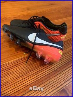 Nike Tiempo Legend VI 6 FG Pro Mens Black Soccer Cleats Size 10 New Witho Box