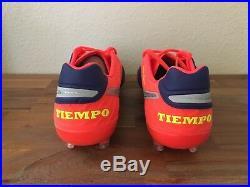 Nike Tiempo Legend VI 6 FG Soccer Cleats Royal/Chrome 819177-409 Men Sz 6-7, 10