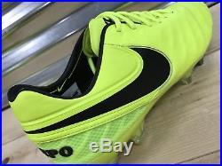 Nike Tiempo Legend VI 6 SG-Pro ACC Soccer Cleats Volt Black SZ (819680-708)