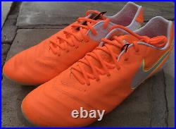 Nike Tiempo Legend VI AG Pro Womens Size 11.5 Soccer Cleats 846227-818 Orange