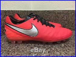 Nike Tiempo Legend VI AG-R ACC Soccer Cleats Crimson 819712-609 Sz 8.5 RARE