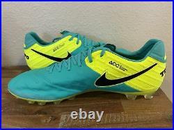 Nike Tiempo Legend VI AG-R Soccer Cleat Clear Jade Volt 819712-308 Men Sz 11.5