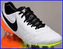 Nike Tiempo Legend VI FG 6 Men Soccer Cleats Football NEW White/Volt 9