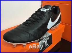Nike Tiempo Legend VI FG ACC Real Leather 819177 010 U. K Size 8 Euro 42.5