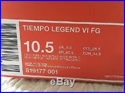 Nike Tiempo Legend VI FG ACC Soccer Cleats Men's Size 10.5