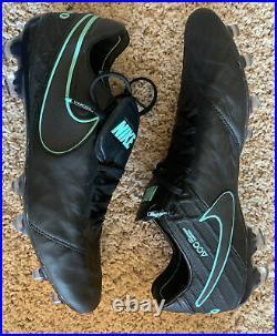 Nike Tiempo Legend VI FG Cleats Men's Black Turquoise Size 11 NEW NIB
