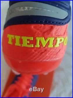 Nike Tiempo Legend VI FG Size 9.5 Men Cleats Deep Royal Chrome Orange 819177-409